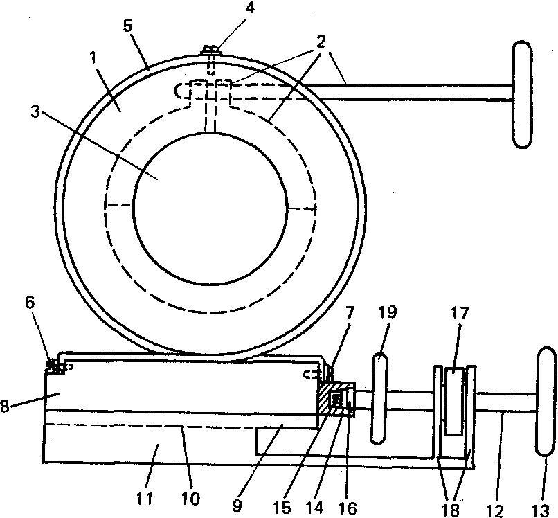 Схема устройства для перемещения осей телескопа.